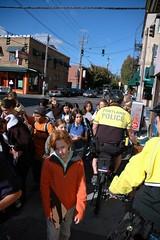 On a bike-along in SE Precinct