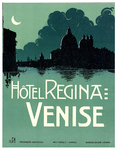 Hotel Regina Venice Richter & Co. Label by Art of the Luggage Label