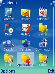 Application on Nokia N73 © kuan huang