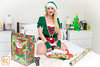 Dear Santa (Video now available) (Kim Cums) Tags: bed bedroom blonde braless candycane christmas collar collared costume elf festive flickrsafe gloves hat kneeling lego legsspread lipstick smile spreadlegs kimcums