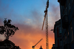 Something under construction (FMCRphotography) Tags: buildings color sunset lovely blue orange sky