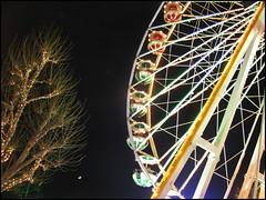 Ferris Wheel, Christmas Market, Luxembourg City (Wagsy Wheeler) Tags: luxembourg luxembourgcity christmas christmastree tree ferriswheel ferris wheel light lights night nighttime moon christmasmarket