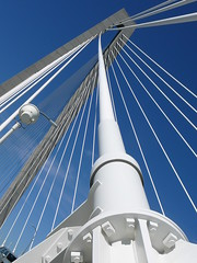 STRENGTH (dumarismck) Tags: bridge blue white lines architecture arch suspension strength powerful guidelines ravennel