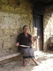 Anziana donna Chachapoya, culture indigene Cajamarca Altipiano Ande Perù