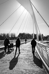 Arch (deff0) Tags: bw black white blackandwhite blackwhite street bridge arch architecture shadow backlight sun spring fuji fujifilm xtrans x100t x100 fujinon 23mm helsinki helsingfors suomi finland