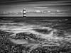 Black Point, Penmon (urfnick) Tags: wales blackpoint penmon canon eos 1300d ocean sea waves monochrome mono bw blackwhite le longexposure rocks tide nature lanscape lighthouse angelsey sundaylights