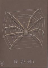 The Web Spider (Klaas van den Burg) Tags: spider web color pencil drawing humor newspecies