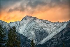 Fire on the Mountain (Philip Kuntz) Tags: sunset sundown dusk evening mountain peak kananaskis canmore alberta canada