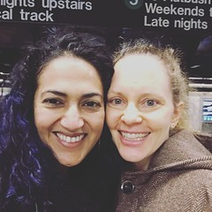 with Rebecca (olive witch) Tags: 2018 abeerhoque day fem indoors mar18 march nyc pair subway