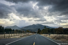 Slagle Creek Road (Nick Kanta) Tags: applegatevalley autumn clouds color mountains oregon outdoorphotography road sky iphone7 iphoneography