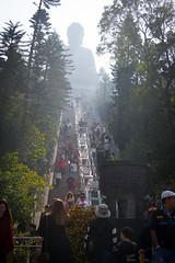 Big Buddha (mathias2784) Tags: stairs sunny 1802hklkwsin sight sonne architektur urlaub people hongkong skulptur park seeing diashowfamilie buddha erstauswahl gebäude