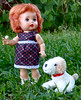 Littlest Angel (M.P.N.texan) Tags: doll hardplastic plastic vintage toy littlestangel jointed collectible handmadeclothes redhair arranbee