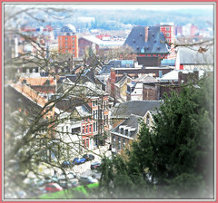 Vue sur la rue du Potay et derrière le Musée Curtius, Liège, Belgium (claude lina) Tags: claudelina liège belgium belgique belgië muséecurtius ruedupotay paysage landscape