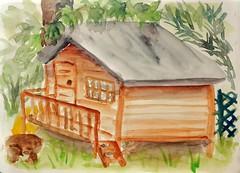 La Bernacaba !!! (cecile_halbert) Tags: peinture aquarelle paysage painting watercolor landscape cabane sketch sketching croquis pochade