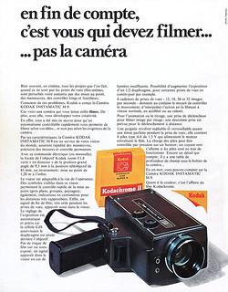 Kodak Instamatic M9 Movie Camera advertisement.