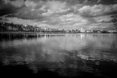 On the banks of the Volga (Unicorn.mod) Tags: 2018 monochrome bw blackandwhite blackwhite landsape cityscape city tver river volga russia water canoneos6d canon canonef24105mmf4lisusm