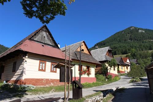 Vlkolinec UNESCO village in Slovakia