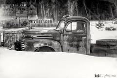180410-02 Vieux pickup (clamato39) Tags: noiretblanc blackandwhite bw monochrome camion pickup truck abandonned abandon rouille rust provincedequébec québec canada old