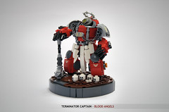 Blood Angels Captain In Terminator Armour: angles (Faber Mandragore) Tags: lego moc sci fi mecha powersuit warhammer 40k wh40k space marine terminator blood angel captain victory pose faber mandragore fabermandragore
