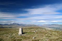 Whitfell Summit (PJ Swan) Tags: trig point trangulation pillar whitfell cumbria lake district england hill fell summit