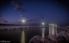 'Tranquility' (robby.macgillivray) Tags: jetty seaside evening incoming tide south australia stansbury reflections breakwater