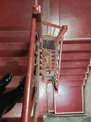 Stairwell (wwward0) Tags: boots cc indoor legs manhattan nyc spiral stairwell wwward0 newyork unitedstates us