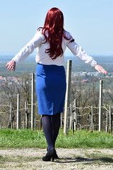 First time outdoor :) (brigitta.cd) Tags: crossdresser outdoor secretary jabot blouse