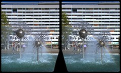 Prager Strasse fountain 3-D / CrossView / Stereoscopy / HDRaw (Stereotron) Tags: saxony sachsen dresden elbflorenz fountain ddr architektur pragerstrase europe germany deutschland crosseye crossview xview pair freeview sidebyside sbs kreuzblick 3d 3dphoto 3dstereo 3rddimension spatial stereo stereo3d stereophoto stereophotography stereoscopic stereoscopy stereotron threedimensional stereoview stereophotomaker stereophotograph 3dpicture 3dimage twin canon eos 550d yongnuo radio transmitter remote control synchron kitlens 1855mm tonemapping hdr hdri raw