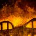detail 3 - Fire at the Opera House of the Palais-Royal - Hubert Robert