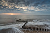 Caister sunrise (Nick Seaman Photos) Tags: caisteronsea norfolk sunrise dawn beach sandy groyne groynes zigzag sony zeiss leefilters leefilter polariser polarizer proirnd kasefilters kasefilter shingle clouds cloud cloudy blue sky skies variotessartfe41635 sea seaside north ocean longexposure