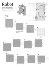 Robot by Shunsuke Inoue 1/8 (Orizuka) Tags: robot shun shunsuke inoue diagram origami diagramme