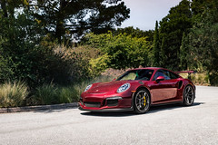 Enter the Arena (robertsautomotive.photos) Tags: arenared red arena 991 911 991rs gt3 gt3rs pts painttosample car carweek monterey cars fast fastcar speed speedy