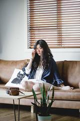 DSC_9784 (yushicheng) Tags: home lifestyle sofa life living livingroom room girl portrait portraiture auckland newzealand interior interiordesign plant nikon nikond810 d810 dslr