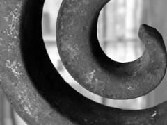 Wrought (Tpstearns) Tags: monochrome blackandwhite bw iron spiral