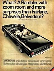 1966 Rambler Classic Convertible (aldenjewell) Tags: 1966 rambler classic convertible ad
