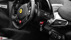 Details (Tzo_alex) Tags: ferrari 458 speciale red yellow details monaco hermitage hotel black white bw key