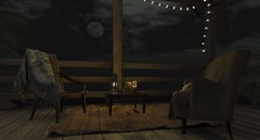 La pleine lune (Mr. Eric More) Tags: moon cabin antique latern chairs rug secondlife lune