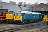 50008 + 45041 - Wansford - 08/04/18. (TRphotography04) Tags: british rail br blue english electric type 4 50008 thunderer stands next sulzer 45041 royal tank regiment wansford nvr taken during nene valley railway spring diesel gala 2018