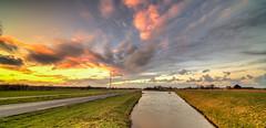 Fiery clouds. (Alex-de-Haas) Tags: 11mm d850 dutch hdr holland irix nederland nederlands netherlands nikon noordholland schoorldam avond beautiful beauty cloud clouds evening hemel landscape landschap longexposure lucht mooi skies sky sundown sunset winter wolk wolken zonsondergang