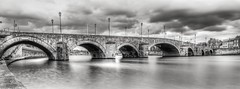 Bridge namur Long exposure - 5063 (ΨᗩSᗰIᘉᗴ HᗴᘉS +27 000 000 thx) Tags: fuji fujifilm fujifilmgfx50s hdr blackandwhite bw monochrome water bridge 7dwf landscape