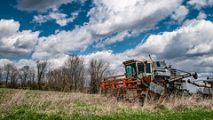 Combine (Marty Bisson) Tags: farm field machinery nature rural blue green old rustic nikon hdr