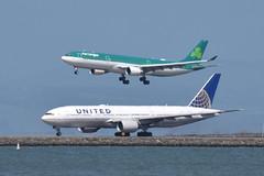 EI-GAJ A330 Aer Lingus (eigjb) Tags: san francisco international airport ksfo sfo jet transport california usa 2018 airliner aircraft airplane aeroplane aviation plane spotting eigaj a330 aer lingus united airlines boeing 777 b777 n795ua irish