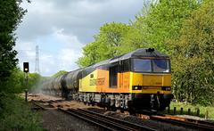 Colas Tug At Cromwell Bottom. (Neil Harvey 156) Tags: railway 60087 clicsargent cromwellbottom elland caldervalley prestondockstanks prestontanks bitumentanks 6e32 class60 colasrail colas tug