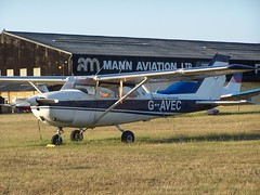 G-AVEC (IndiaEcho Photography) Tags: gavec cessna 172 egtf fai fairoaks chobham surrey england airport airfield light general civil aircraft aeroplane aviation
