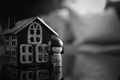 there's no place like home (s@ssyl@ssy) Tags: kimmidoll house toy mini decoration blackwhite mono