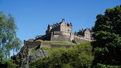 Edinburgh Castle (p.mathias) Tags: castle edinburgh fort fortification fortress history trees tree bluesky blue spring scotland unitedkingdom sony a5100 europe