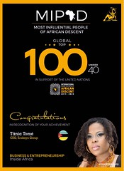 Tania Tome Most Influential People of African Descendant (mbusinessmozmagazine) Tags: multifacetictaniatomeecokayaceo tvpersonality coach author mentor internationaladvisor mipad 2018 young african leader ambassador brand tania tome tânia tomé award winner international adviser most influential 100 poeple people descendand descendente africa africana negra mais influentes do mundo world usd challenge accepted