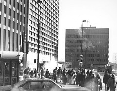 Crossing Portage & Main, 1970s (vintage.winnipeg) Tags: winnipeg manitoba canada vintage history historic portagemain