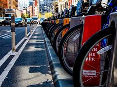 Bike Stand (Modymark) Tags: bikes newyork soho manhattan lines shadows