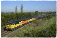 Double Gridage (elr37418) Tags: 56096 56302 preston lancashire uk great britian colas bituman tankers nikon d7100 grid orange yellow coote lane bank rail freight vtg lindsey 6e32 6m32 united kingdom england double total lanfina